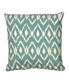Another great find on #zulily! Teal & Cream Faded Diamonds Sham #zulilyfinds