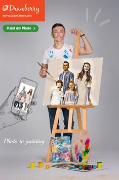 Drawberry lets you find a talented artist to turn your photo to painting and order artwork for home or office use. Get canvas art for less. Family Portraits, Family Photos, Paint My Photo, Family Painting, Artwork For Home, Cherished Memories, Precious Moments, Best Artist, Custom Paint