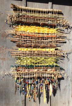 outdoor weaving project - would be great on the chicken house!