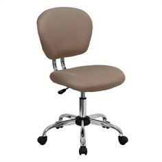 Free 2-day shipping. Buy Scranton & Co Mid-Back Mesh Task Office Chair in Coffee Brown at Walmart.com Cheap Office Chairs, Stylish Chairs, Cheap Desk, Modern Chairs, Swivel Office Chair, Mesh Office Chair, Office Desk, Cafe Chairs, Room Chairs