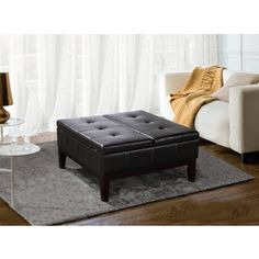 @Overstock.com - Lancaster Square Coffee Table Ottoman and Split-lift Lid - Complete the look of your living space with this stylish and versatile Lancaster coffee table ottomon. Complete with a modern square construction, this fabulous ottoman features a split-top hinged lid for easy storage and organization of all your things.  http://www.overstock.com/Home-Garden/Lancaster-Square-Coffee-Table-Ottoman-and-Split-lift-Lid/8361241/product.html?CID=214117 $264.99