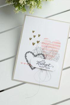 Stampin Up Grußkarte Hochzeitskarte Papierwunder Basteln Hochzeit Hochzeitsgeschenk Geldgeschenk Heart of Happiness Herzen Embossing Blüten des Augenblicks