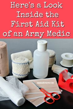 An old Army medic gives us a glimpse inside his first aid kit. Here are some lin… An old Army medic gives us a glimpse inside his first aid kit. Here are some links and checklists to create your own high-quality prepper's medical bag. First Aid Kit Checklist, Diy First Aid Kit, Survival First Aid Kit, Hiking First Aid Kit, Survival Quotes, Survival Food, Survival Prepping, Survival Skills, Prepper Food