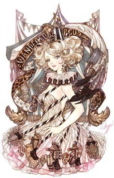 Clown Illustration By Maggi Pretty Art, Cute Art, Art Et Illustration, Illustrations, Manga Art, Anime Art, Arte Obscura, Maker, Character Design Inspiration