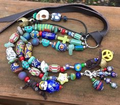 Excited to share the latest addition to my #etsy shop: Purse Charm Beaded - Purse Charm - Beaded Zipper Pull - Purse Charm Boho - Leather Purse Charm - Purse Tassel - Beaded Bag Charm - OOAK