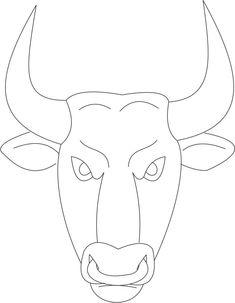 Bull mask printable coloring page for kids Pattern Coloring Pages, Cartoon Coloring Pages, Coloring Book Pages, Printable Coloring Pages, Free Coloring, Coloring Pages For Kids, Ferdinand The Bulls, Printable Animal Masks, Nativity Costumes