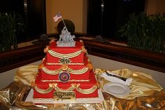 Anny of landing on Iwo Jima this week Usmc Birthday, Marine Corps Birthday, Marine Corps Ball, Thunder Chicken, Marine Cake, Military Cake, Dad Cake, Ball Decorations, Retirement Parties