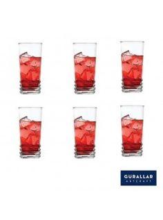 Buy Gurallar 6Pc Glass Tumbler Elegan 250 Ml-258002 online at happyroar.com