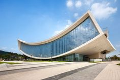 national library of sejong city by S.A.M.O.O. has swooping roof