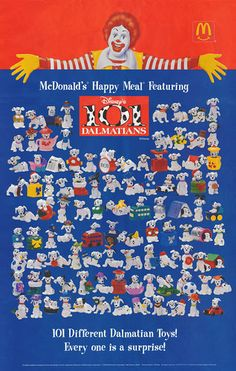 1996 McDonald's 101 Dalmations Happy Meal Toys Poster | by kocojim