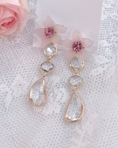 Kawaii Jewelry, Cute Jewelry, Pearl Jewelry, Jewelery, Jewelry Accessories, Pearl Earrings, Kpop Earrings, Cute Earrings, Beautiful Earrings