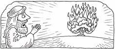 moses and burning bush craft   Ноты и слова детских христианских ...