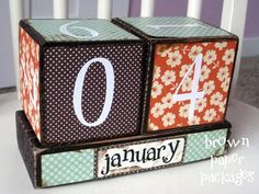 Calendar blocks. DIY