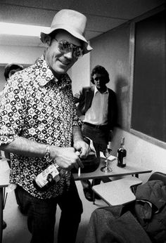 "The great gonzo journalist, ""Hunter S. Thompson"", cracking open some Turkey."