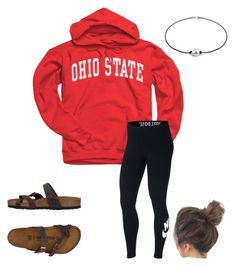 """Untitled #57"" by faithjones1223 on Polyvore featuring NIKE and Birkenstock"