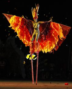 Stilt Walker - great costume from Trinidad and Tobago Carnival 2012: The Caribbean's Biggest Party