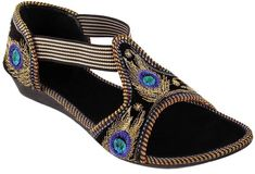 Myra Women Black Flats