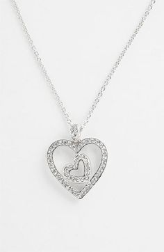 Nadri Boxed Heart Pendant Necklace (Nordstrom Exclusive) available at Nordstrom - Another possiblity for Goose