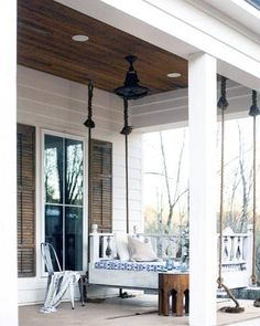 Exceptional Porch Ceiling Ideas Porch Kits, Porch Ideas, Pergola Ideas, Patio Ceiling Ideas, Patio Design, House Design, Porch Paint, Porch Entry, Diy Porch