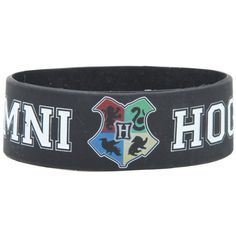 Hot Topic Harry Potter Hogwarts Alumni Rubber Bracelet ($5.25) ❤ liked on Polyvore featuring jewelry, bracelets, multi, rubber jewelry and rubber bangles