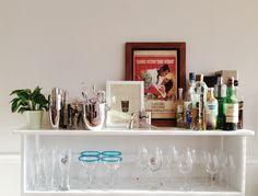 painted bar shelf