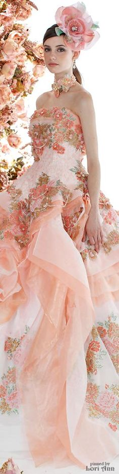 Stella de Libero from debbie orcutt.what a Beautiful gown id so love to wear her whole outfit Estilo Fashion, Fashion Moda, Pretty Outfits, Pretty Dresses, Evening Dresses, Prom Dresses, Fairytale Dress, Mode Chic, Fantasy Dress