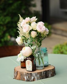 Not necessarily these flowers-but love the bottles