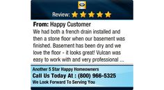 We had both a french drain installed and then a stone floor when our basement was...