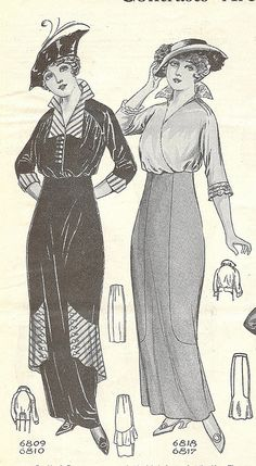 Ladies fashions - Needlecraft Magazine - September 1914