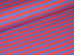 50cm BIO Jersey Streifen 5mm  rot-blau  Kombistoff von Spicy-Kids auf DaWanda.com