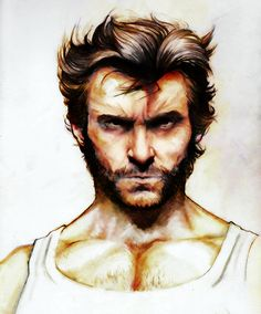 Hugh Jackman Wolverine colo final by ~YannWeaponX on deviantART