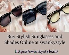 Shop for Sunglasses online at best prices in India. Choose from a wide range of Shades for Men and women at swanky. Stylish Sunglasses, Sunglasses Online, Shades For Men, Designer, Range, India, Unisex, Stuff To Buy, Shopping