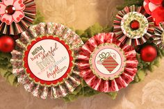 Wreath and card envelopes