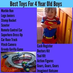 Lots Of Gift Ideas For 4 Year Old Boys Boy Birthday