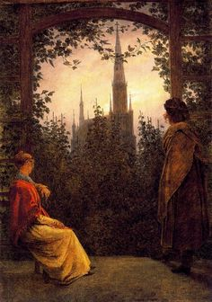 The Summerhouse - Caspar David Friedrich 1818