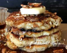 Butter Pecan Pancakes...kind of on the dry side, but with some tweaking these could be really good!