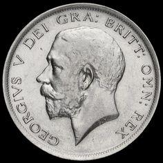1918 George V Silver Half Crown, GVF