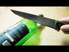 How to Cut Glass Bottles with a String and Fire - YouTube