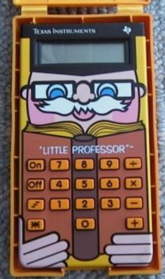 Little Professor Texas Instruments - Retro Calculator Toy from the 80s.