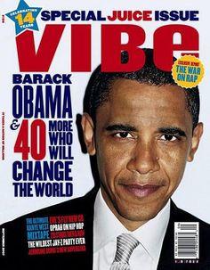 Barack Obama VIBE Magazine Cover November 2008 VIBE Magazine Obama ...
