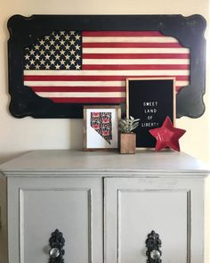 Coffee Table-Turned-Patriotic Wall Art
