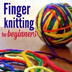 Finger knitting is a perfect family project. We love to work on finger knitting (and other projects!) while we listen to audiobooks or read alouds. It's one of the easiest projects you can do - all you need are your fingers and some yarn (and you'll need some scissors to cut the yarn when yo