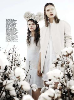 blanc canvas: victoria anderson and vivian witjes by corrie bond for marie claire australia august 2012