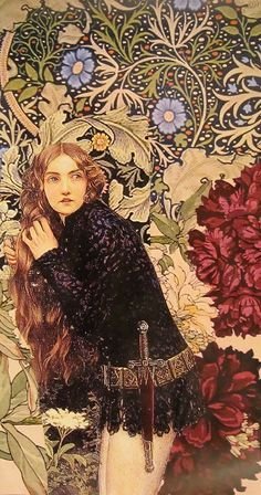 Collage with Eleanor Fortescue-Brickdale's Little Foot Page by Kanchan Mahon Mixed Media Collage, Collage Art, Illustrations, Illustration Art, Photografy Art, John Everett Millais, Art Nouveau, Woman Painting, Whimsical Art
