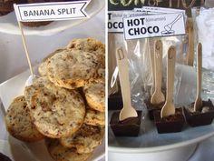 Cookies Banana Split / Hot choco