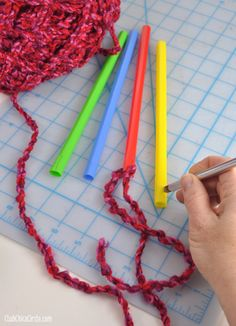 Easy Knitting with Big Straws for Kids  Cool headband for winter!