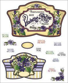 Violette Vintage Labels