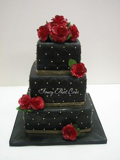 Black & Red roses by FancyThatCake, via Flickr