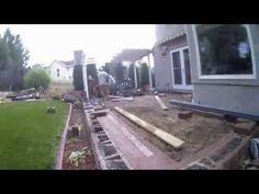 Raised patio time lapse - YouTube