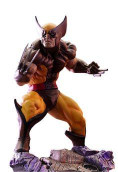 Kotobukiya Marvel Comics Danger Room Sessions Wolverine Brown Costume Fine Art Statue